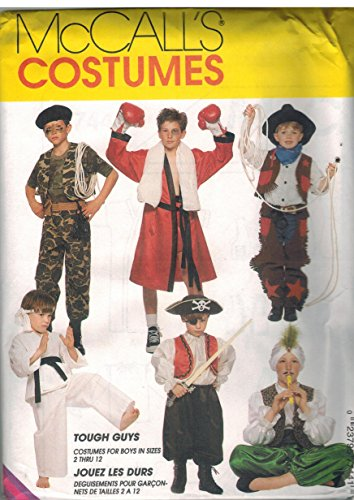 7744 McCalls Sewing Pattern UNCUT Girls Boys Child Halloween Costume Cowboys Soldier Boxer Karate Genie Pirate Size Small 2 4 -