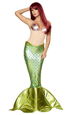 Sexy Ariel Little Mermaid Halloween Costume  sc 1 st  Amazon.com & Amazon.com: Sexy Ariel Little Mermaid Halloween Costume: Clothing