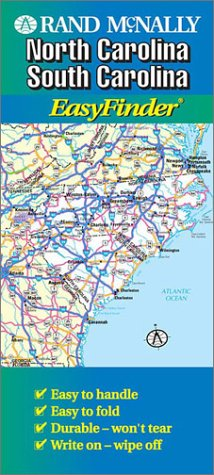 Rand McNally Easyfinder Map North Carolina & South Carolina