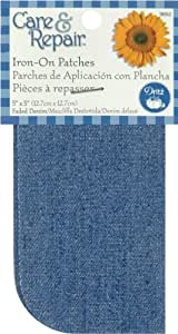"Iron On Patches 5""X5"" 2/Pkg-Faded Denim"