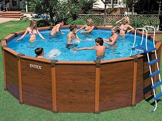 Piscine Intex Sequoia Spirit Aspect Bois X M Amazonfr - Piscine intex aspect bois