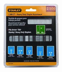 Stanley Tra700Bn Heavy-duty grapa y Brad surtido, 2500-Pack