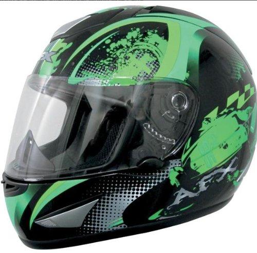 AFX FX-95 Stunt Helmet , Size: XS, Primary Color: Green, Distinct Name: Green Stunt, Helmet Type: Full-face Helmets, Helmet Category: Street, Gender: Mens/Unisex 0101-5812