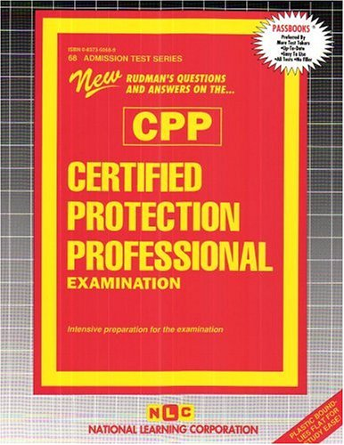 Certified Protection Professional Examination (Admission Test Passbooks)