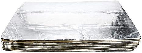 Funihut Selbstklebende Alubutyl Anti Dröhn Dämmmatte 12er Pack Auto Dämmung 30 X 50cm Jeweils Insgesamt 30 X 600cm Lärmschutz Schalldämmung Und Schallschutz Für Kfz Küche Haushalt