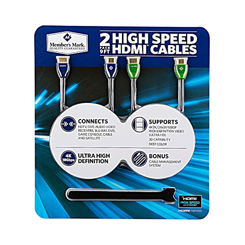 High Speed HDMI Cables 2 Pack ()