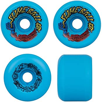 SANTA CRUZ Old School Re-Issue Skateboard Wheels 60mm SLIME BALLS VOMITS BLUE