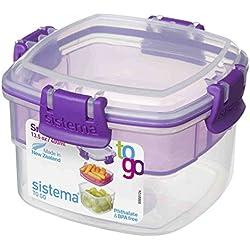 Sistema 400 ML Snack To Go, Purple, 2-Pack