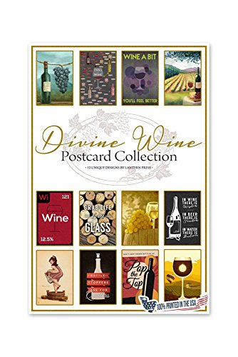 Lantern Press Divine Wine Postcard (Cabernet Sauvignon Stock)
