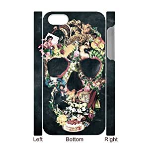 3D Bumper Plastic Case Of Artsy Skull customized case For Iphone 4/4s hjbrhga1544