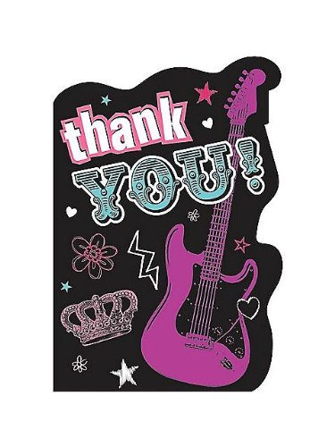 Rock Star Girl Thank You Notes (8-pack) ()