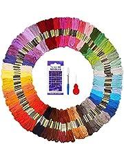 Matassine Punto Croce 144 pezzi FUYIT 3 pezzi per colore Totale 48 colori Ricamo Punto Croce Morbidi Cotone Floss Ricamo Usato per Ricamo - Punto Croce - Amicizia Braccialetti - Mestieri