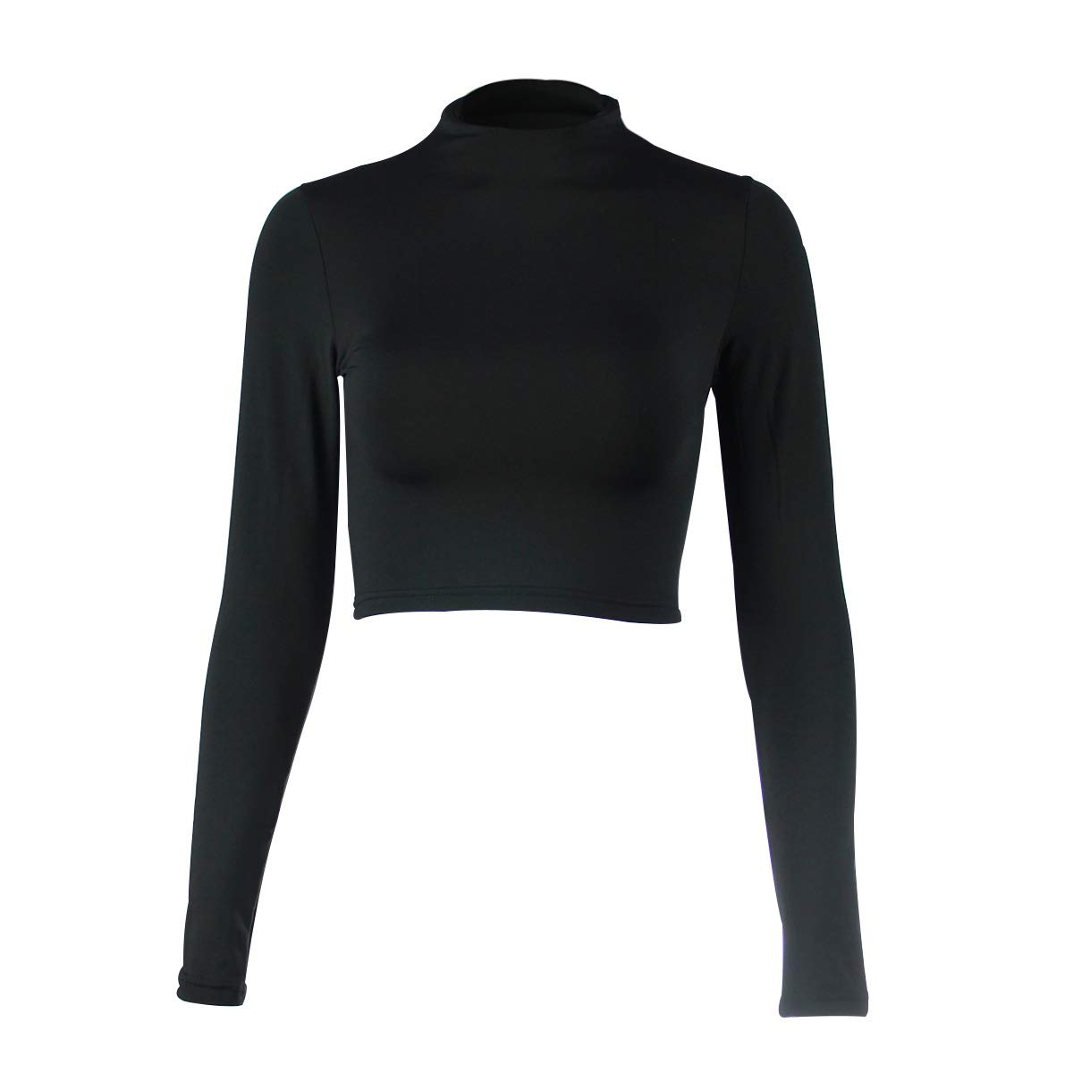 6410e9bb5af21 YLorcce Womens Sexy Slim Fit Long Sleeve Turtleneck Basic Crop Top Tee Tops  at Amazon Women s Clothing store