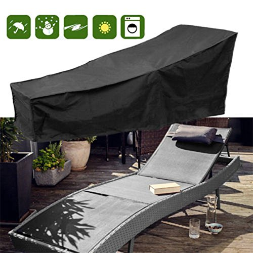 Lounge Chair Covers - Waterproof Chaise Lounge Covers with Durable 210D Material,Premium Chaise Chair Cover (Size:82''L x 30''W x 31''H)