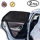 Car Window Shade,2 Pack Super Stretchy Mesh Car Sun Shade for Rear Side Window, Block 97% Harmful UV, Anti-Mosquito…
