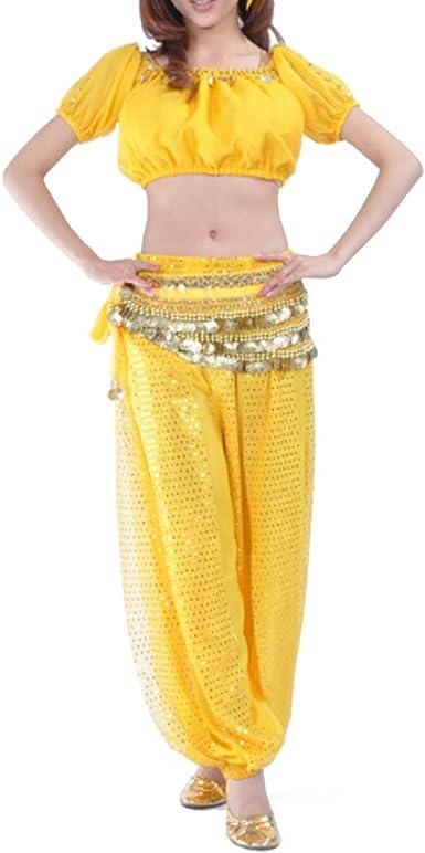 MUCHAO Disfraz de Danza India para Mujer Disfraz de Fiesta de ...
