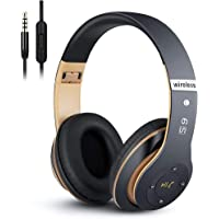 6S Wireless Headphones Over Ear,Hi-Fi Stereo Foldable Wireless Stereo Headsets Earbuds with Built-in Mic,Volume Control…