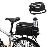Little-Sweet Durable Waterproof Nylon Bike Pannier Bag Mountain Road Bike Rack Rear Seat Trunk Bag Bicycle Accessories Shoulder Handbag
