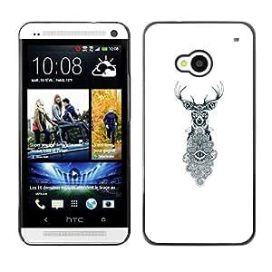 TopCaseStore / la caja del caucho duro de la cubierta de protección de la piel - Eyes White Eye Meaning - HTC One M7