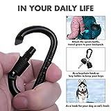 Carabiner Keychain Clip Hook, Cridoz 3pcs Locking