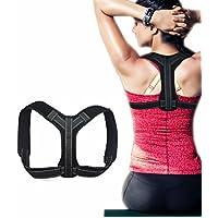 El mejor corrector de postura y soporte de espalda para mujeres y hombres - Hombros redondeados Ultimate Comfort Corrector de hombro Clavícula Soporte cervical para espalda superior. Alivio del dolor en el hombro y el cuello