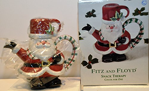 - Fitz and Floyd Snack Therapy Cocoa for One Santa Teapot & Mug/Cup Ceramic 2002