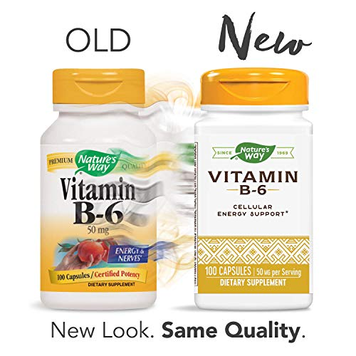 Nature's Way Vitamin B-6, 50 mg per serving
