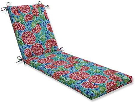 Pillow Perfect Outdoor Indoor Garden Blooms Multi Chaise Lounge Cushion, 72.5 x 21 , Pink