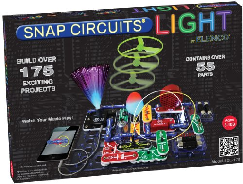 Snap Circuits SCL-175 Lights Electronics Exploration Kit | Over 175 Exciting STEM Projects | 4-Color Project Manual | 55 Snap Modules | Unlimited Fun (Snap Electronics Kit)