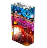 Skin Decal Vinyl Wrap for Smok Xcube 2 BT50 Vape Mod Box / Fractal Colors