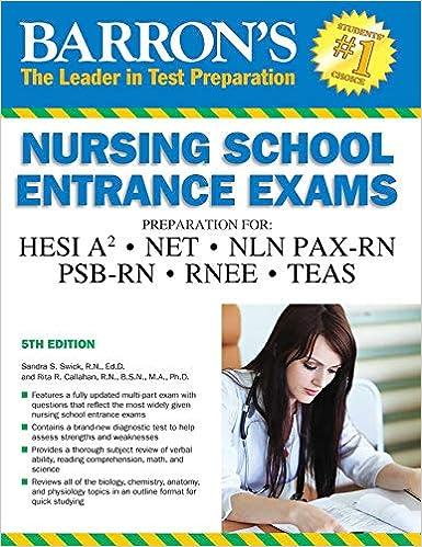 Barrons Nursing School Entrance Exams Hesi A2 Net Nln Pax Rn