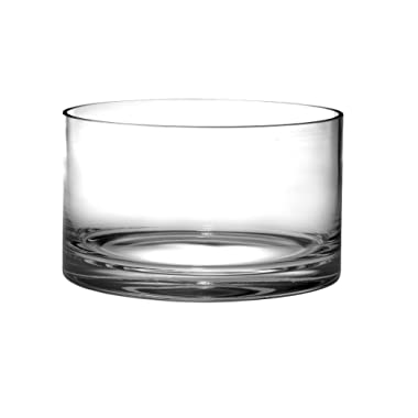 Barski - European Quality Glass - Handmade - Thick Straight Sided Salad Bowl - 10   Diameter - Superb Quality - Made in Europe