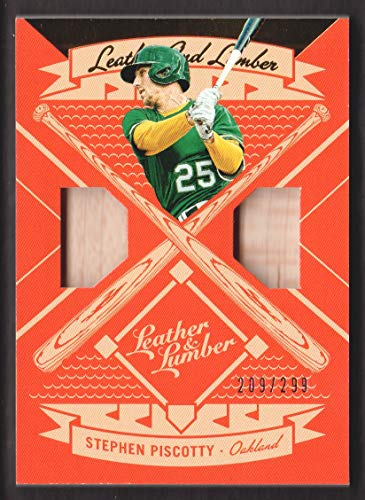 2019 Sp Game Bat - 2019 Panini Leather and Lumber Dual Bat Relics #LLD-SP Stephen Piscotty 209/299