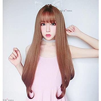 Amazon Com Hot Princess Lee Wig With Long Straight Hair Natural