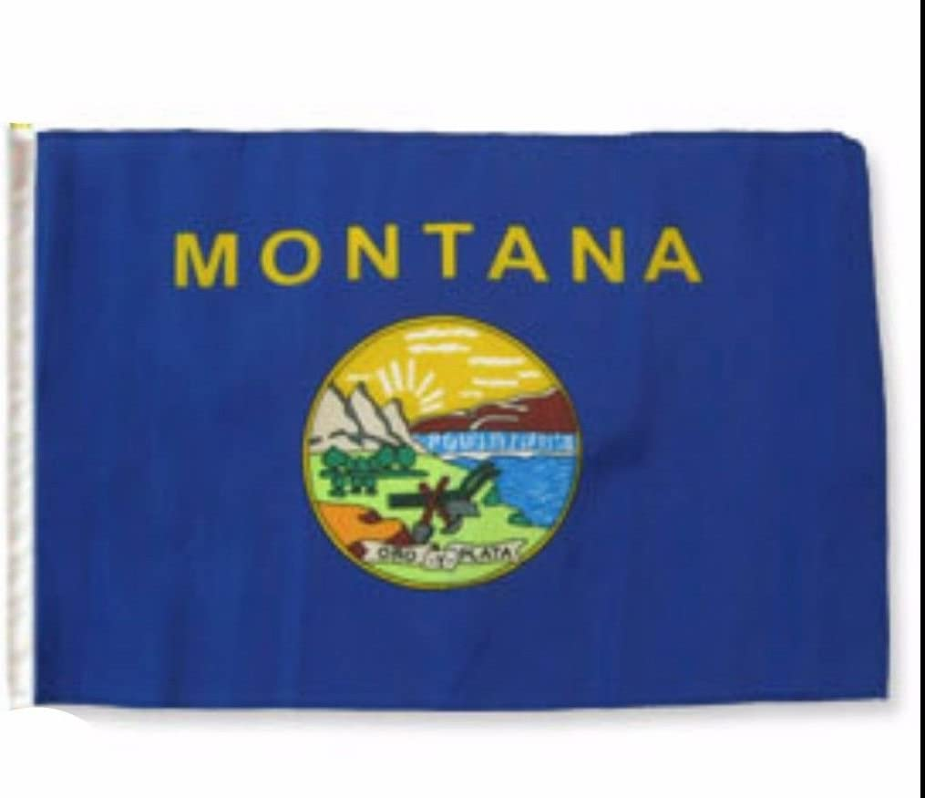 """State of Montana 12""""x18"""" Sleeved Polyester Garden Flags"""