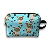 Siamese Cats Cosmetic Bag For Purse Cosmetic Bag Accessory Bag Multiple For Couple