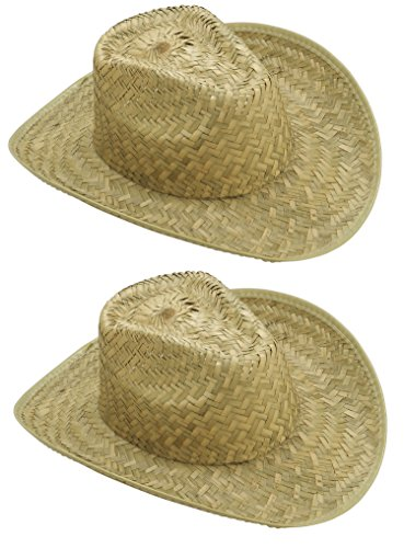 Straw Cowboy Hat (2 Pack)