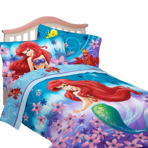 Disneys-Little-Mermaid-Cascading-Flowers-Twin-Comforter-Set