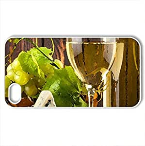 White Wine - Case Cover for iPhone 4 and 4s (Watercolor style, White)