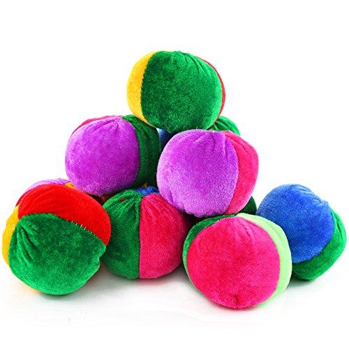 Neworkg 12 Pack Soft Velvet Bean Bags - 3 inches - Fun Sports Game Bean Bag Carnival Toy Bean Bag Toss Game ()
