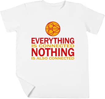 Everything Is Connected, Nothing Is Also Connected Niño Niña Unisexo Blanco Camiseta Manga Corta Kids White T-Shirt