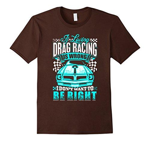 Men's Loving Drag Racing T Shirt Small Brown