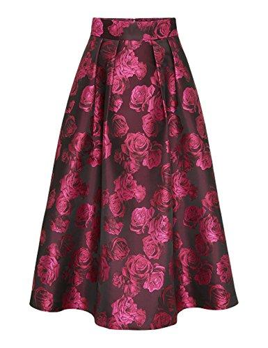 Glamour Schwarz pink Falda blush Para pink Fashion Cherry Mujer Apart pink Black schwarz Mehrfarbig 6SqHRww75