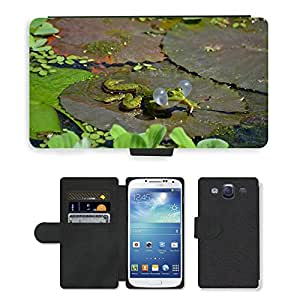 Super Stella Cell Phone Card Slot PU Leather Wallet Case // M00147552 Frog Frogs Amphibians Anuran // Samsung Galaxy S3 S III SIII i9300