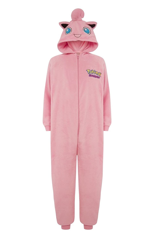 ladies pokemon onesie jigglypuff pink amazon co uk clothing