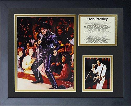 - Legends Never Die Elvis Presley in Concert Framed Photo Collage, 11x14-Inch