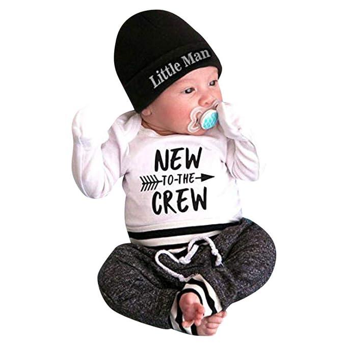 Amazon.com: Traje de bebé recién nacido, trajes para bebé, 3 ...