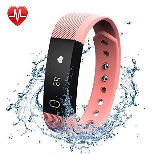 Fitness Tracker Watch with Heart Rate Monitor, FELIS Blue...