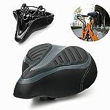Wide Big Bum Bike Bicycle Cycling Gel Cruiser Extra Comfort Soft Pad Saddle Seat
