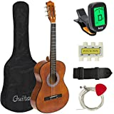 Best Choice Products 38in Beginner Acoustic Guitar Bundle Kit w/Case, Strap, Digital E-Tuner, Pick, Pitch Pipe, Strings - Brown